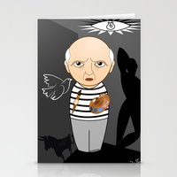 pablo picasso Stationery Cards featuring Kokeshi artist Pablo Picasso by Pendientera
