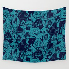 Dapper Dog_Teal Wall Tapestry