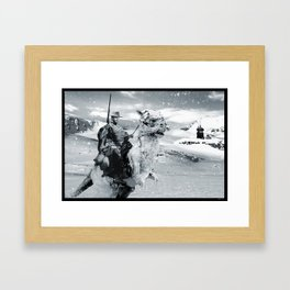 Man with No Name on Hoth Framed Art Print