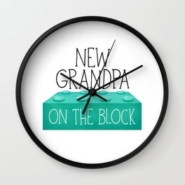 New Grandpa On The Block Wall Clock