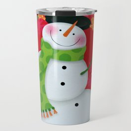 Happy Snowman Travel Mug