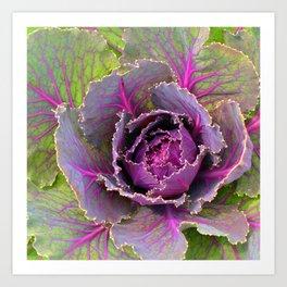 Veins of Purple Art Print