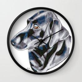 Jax the Black Labrador Wall Clock