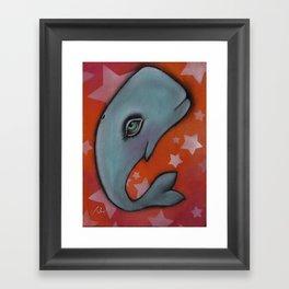 Waylon the Whale Framed Art Print