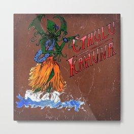 Cthulu Hula Girl Metal Print