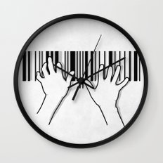 Barcode pianist Wall Clock