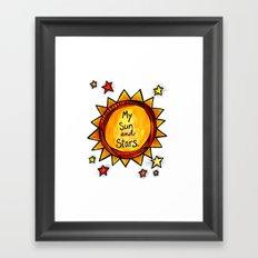 My Sun and Stars - Khal and Khaleesi Framed Art Print