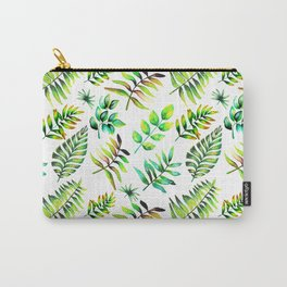 Watercolor Leaves pattern Carry-All Pouch