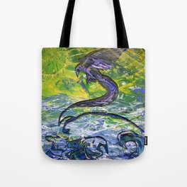 Raven Ascending through Liminal Space Tote Bag