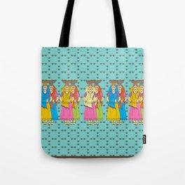 Indian Village Girls Tote Bag