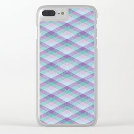 Pastel Weave Pattern Clear iPhone Case