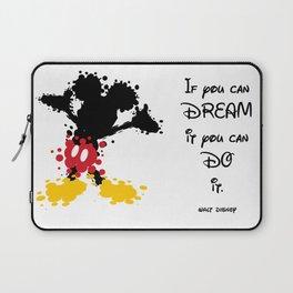Mickey Mouse Paint Splat Magic Laptop Sleeve