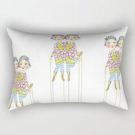 Circus Siamese twins Rectangular Pillow