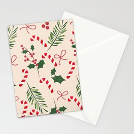 Peppermint Winter Holiday Candy Cane  Stationery Cards