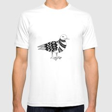 Stylish seagull Mens Fitted Tee MEDIUM White