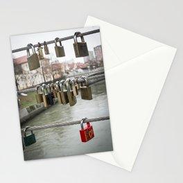 Love padlocks Stationery Cards