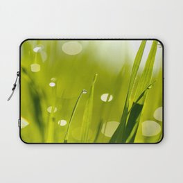 Wonderful Morning Dew - Spring Green - Beatiful Bokeh Laptop Sleeve