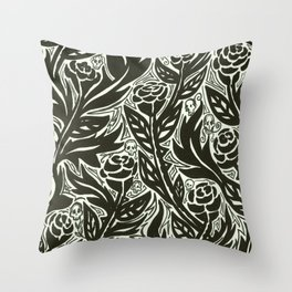 Death of the Roses Throw Pillow