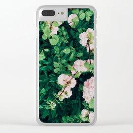 Cherry Garden Blooms Clear iPhone Case