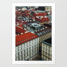 Vienna rooftops II Art Print