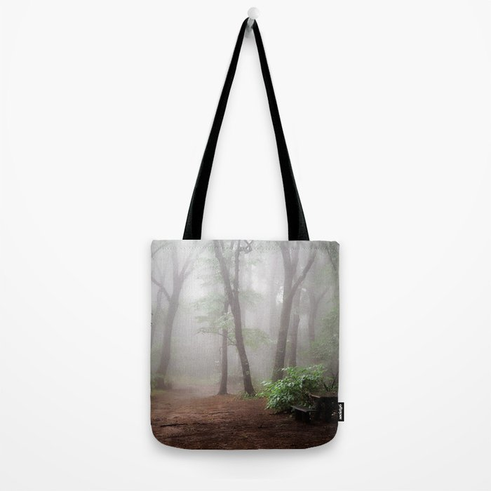 Misty Woods #adventure #photography Tote Bag
