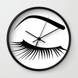 Closed Eyelashes Right Eye Wall Clock
