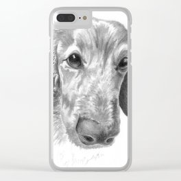 Dogface Clear iPhone Case