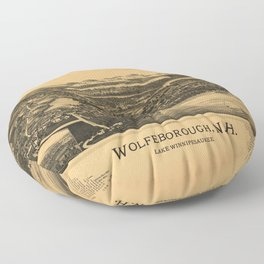 Aerial View of Wolfeborough, New Hampshire (1889) Floor Pillow