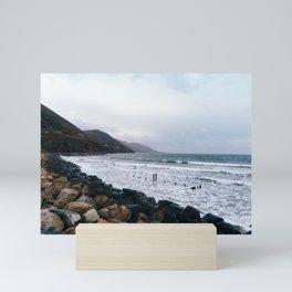 Rocky beach in the coast of Ireland Mini Art Print