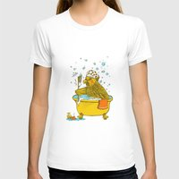bath T-shirts featuring Bird Bath! by HFDee