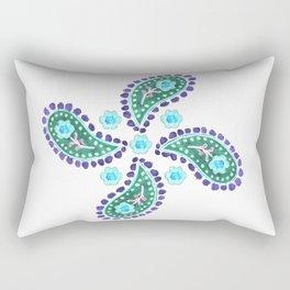 cachemire-bleu Rectangular Pillow