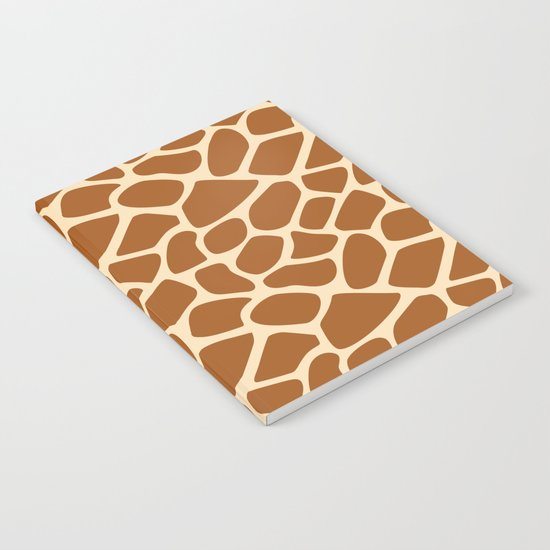 Giraffe Animal Print Pattern Notebook