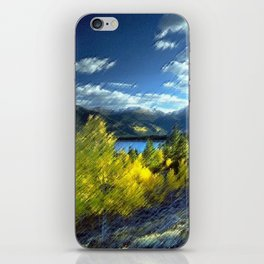 Aspen Trees at Twin Lakes, Colorado Painting by Jeanpaul Ferro iPhone Skin