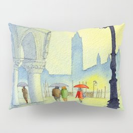 Rainy Evening In St Marks Square Venice Pillow Sham