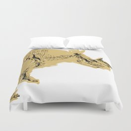 dissappearing act Duvet Cover