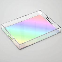 Pastel rainbow Acrylic Tray