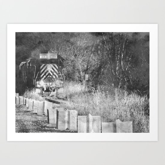 Train Spotting Art Print