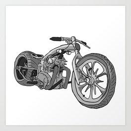 Juan's Chopper Art Print