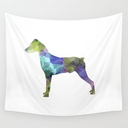 German Pinscher 01 in watercolor Wall Tapestry