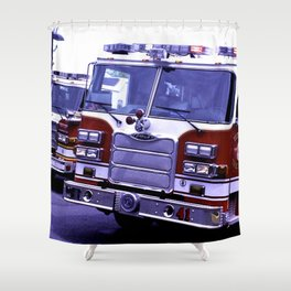 Those Wonderful Fire Trucks Shower Curtain