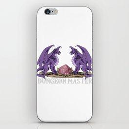 Cool Retro Dragon DM Tabletop Gaming Gift Dragons D20 Dice Print iPhone Skin