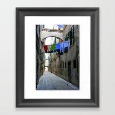 Venice Alley Framed Art Print