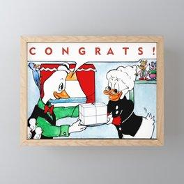 Chasoffart-Congrats! Framed Mini Art Print