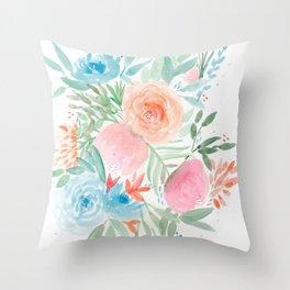 Botanic Floral 4 Throw Pillow