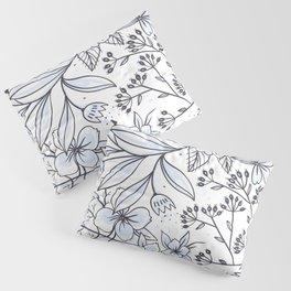 Seamless Floral Blossom Pattern Pillow Sham