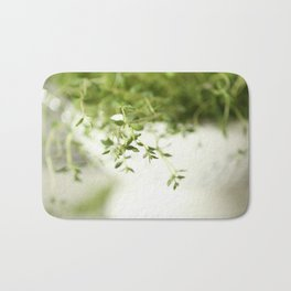 Fresh Herb In A White Pot #decor #society6 Bath Mat