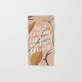 She is grateful for slow and steady growth Hand & Bath Towel