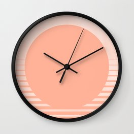 The Sweet Life Collection - Peach Coral Sun Gradient Wall Clock