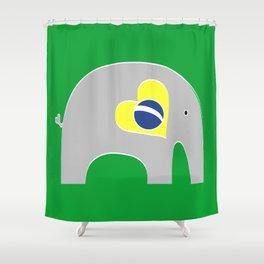 Brazilian Elephant Shower Curtain