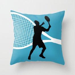 Tennis Indoor Smach Racket Throw Pillow